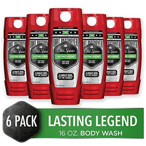 Old Spice Dirt Destroyer Body Wash for Men, Lasting Legend Scent, Hardest Working Collection, 16.0 Ounce Pack of 6