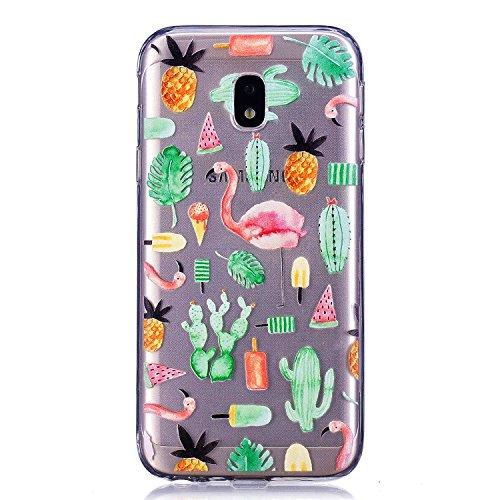 Lomogo Coque Samsung Galaxy J3 2017/J330 [Transparente avec Motif], Housse Gel Silicone Anti-Choc Anti-Rayures Souple Coque de Protection pour Samsung Galaxy J3 (2017) - LOYXI25004#10 #3