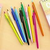 6 pcs/Lot Rainbow color ballpoint pen Slim body Click 0.5mm blue ink roller ball pens Office accessories school