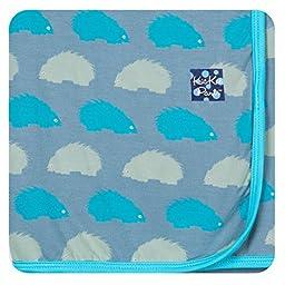 Kickee Pants Newborn Print Swaddling Blanket, Little Boys- Dusty Sky Porcupine, One Size