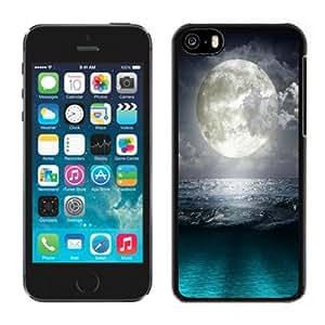 NEW Unique Custom Designed iPhone 5C Phone Case With Super Moon Blue Ocean_Black Phone Case