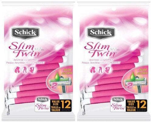 Schick ST2 for Women Sensitive Skin Disposable Razor - 12 ct - 2 pk