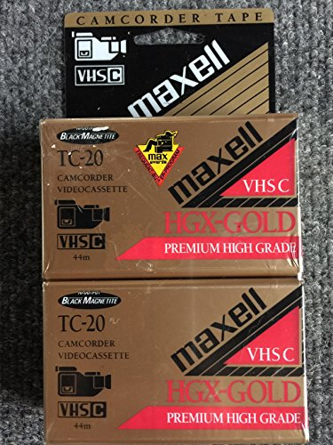 Maxell TC-20 HGX Gold VHSC Camcorder Videocassette