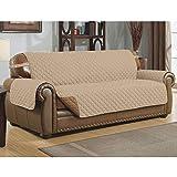 Meiyiu Waterproof Dustproof Pet Sofa Cushion Anti-Slip Sofa Couch Cover Pet Mat for Dogs Cats Beige 167cm x 190cm