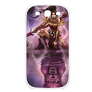 Nidalee-002 League of Legends LoL For Case Samsung Galaxy Note 2 N7100 Cover Plastic White
