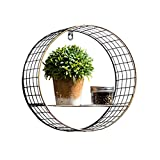 Retro Industrial Style Iron Wall Shelf Bar Tea Shop Adornment Restaurant Hotel Wall Hanging Pendant Style Optional (Color : Style 1)