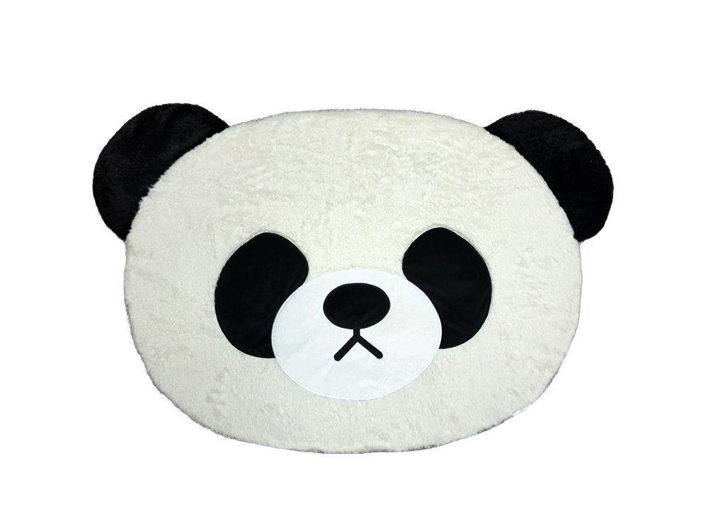 Cute Animal Panda Point Area Room Deco Fluffy Soft Non-Slip Kids Play Rug Mat / 28 x 43 inch - Tokyo Japanese Lifestyle Exclusive Gift (Limited Edition)