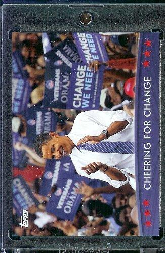 (2008/09 Topps Barack Obama Presidential Trading Card #42 - Very attractive trading card of President Obama)