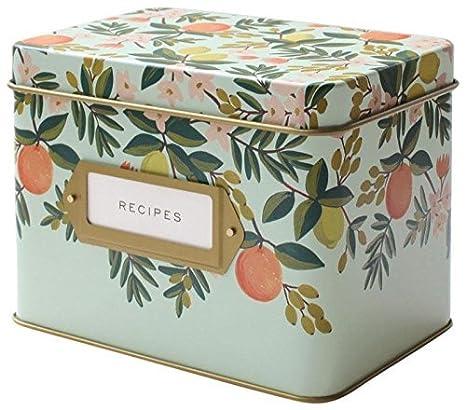 Amazon rifle paper co recipe box citrus floral cell phone recipe box citrus floral thecheapjerseys Image collections