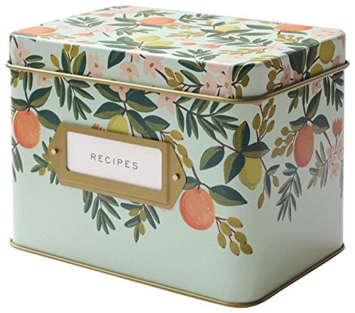 - Rifle Paper Co. Recipe Box - Citrus Floral