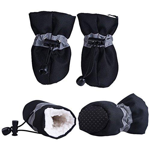 Negro De Con Impermeables Cordón Para Gatos Calcetines Antideslizantes Ajustables Medianas Y Huellas Protectores Pequeñas Gruesos Leezo Perro Mascotas HSTxqf
