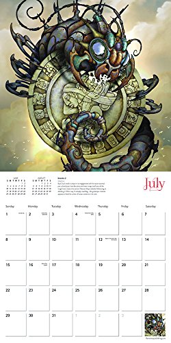 Steampunk 2018 12 x 12 Inch Monthly Square Wall Calendar by Flame Tree, Art Design Subculture 5