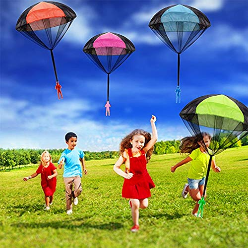AmFor 10 Pcs Parachute Toys, Kids Tangle Free Throwing Toys Outdoor Flying Toys with Hand Throwing No Batteries for Boys Girls Holiday Birthday Gifts by AmFor (Image #4)
