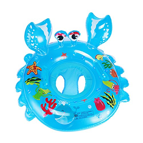 Crab Inflatable Pool Floats for Baby Toddlers, Cute Animals Swimming Rings Child Water Fun Bath Toys,Early Education Kids Toddler Pool Beach Bath Play Tools for Outdoors and Indoors