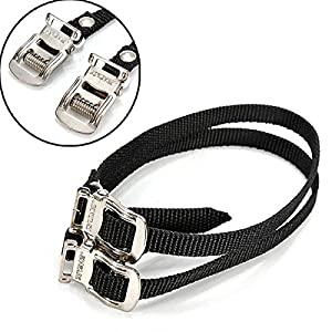 Parts & Components - Pedal Straps Bike Pedals Clips Clip - Fixed Gear Bike Bicycle Pedal Toe Straps Foot Straps Binding Band - Toe Straps For Bike Pedals - 1PCs