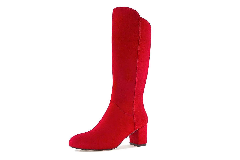 Andres Machado Stiefel in Übergrößen Rot AM4098 ANTE rot große Damenschuhe