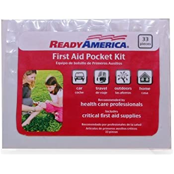 Ready America 74001 First Aid Pocket Kit, 33-Piece
