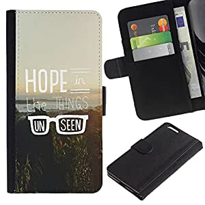 KLONGSHOP / Tirón de la caja Cartera de cuero con ranuras para tarjetas - Hipster Vintage Motivational Sun - Apple iPhone 6 PLUS 5.5