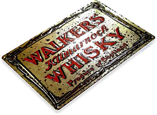 "Beer Scottish (TIN Sign ""Walkers Scottish Whisky Art Store Brew Beer Liquor Shop Bar Pub A703)"