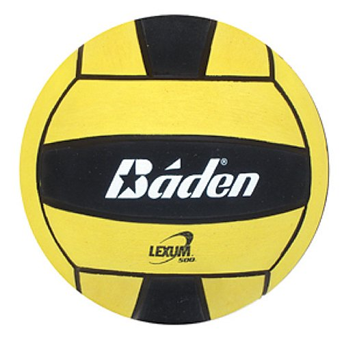 Baden Lexum Official Size 5 Deluxe Rubber Water Polo Ball, Black/Yellow