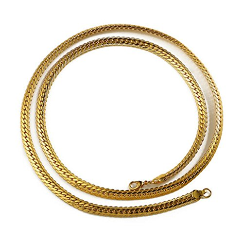 LOMOL Mens Personality Cool Rock HIP HOP Golden Alloy Necklace Costume Jewelry Christmas Present (Homemade Rock Costume Ideas)
