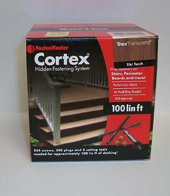 Fastenmaster Cortex for Decks Hidden Fasteners - Trex Transcend Tiki Torch 100 Lin.ft