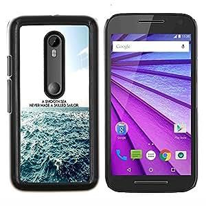 Un mar impresiones Smooth- Metal de aluminio y de plástico duro Caja del teléfono - Negro - Motorola Moto G (3rd gen) / G3