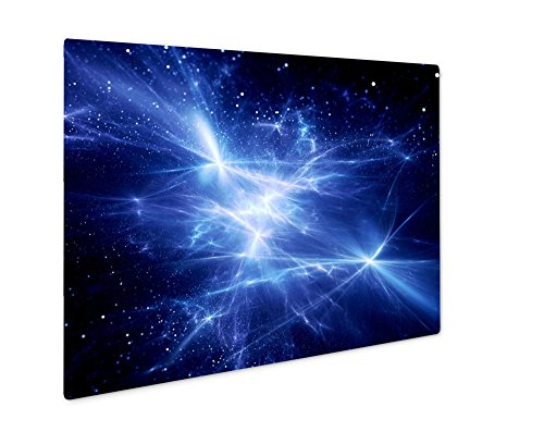Ashley Giclee Blue Glowing Energy Field In Nebula  Wall Art Photo Print On Metal Panel  Color  8X10  Floating Frame  Ag5826352