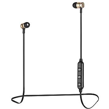 feiledi Trade Auriculares Bluetooth IPX7 Impermeable Bluetooth 4.2 In-Ear Deporte Auriculares Deportivos Ajuste Seguro con Micrófono Integrado para Deporte, ...