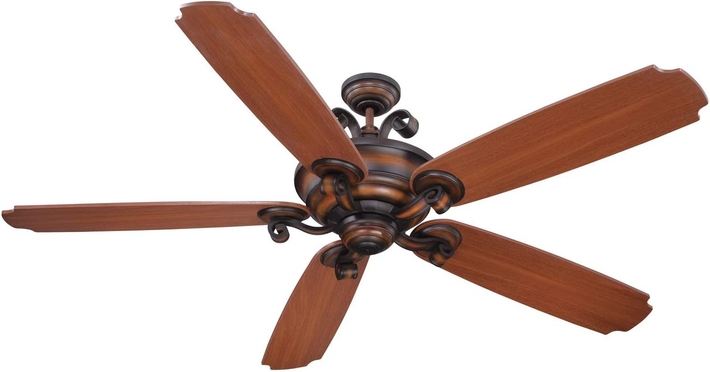 Craftmade K11024 Seville Espana 68 Ceiling Fan and Remote Wall Control, 5 ABS Blades, Spanish Bronze