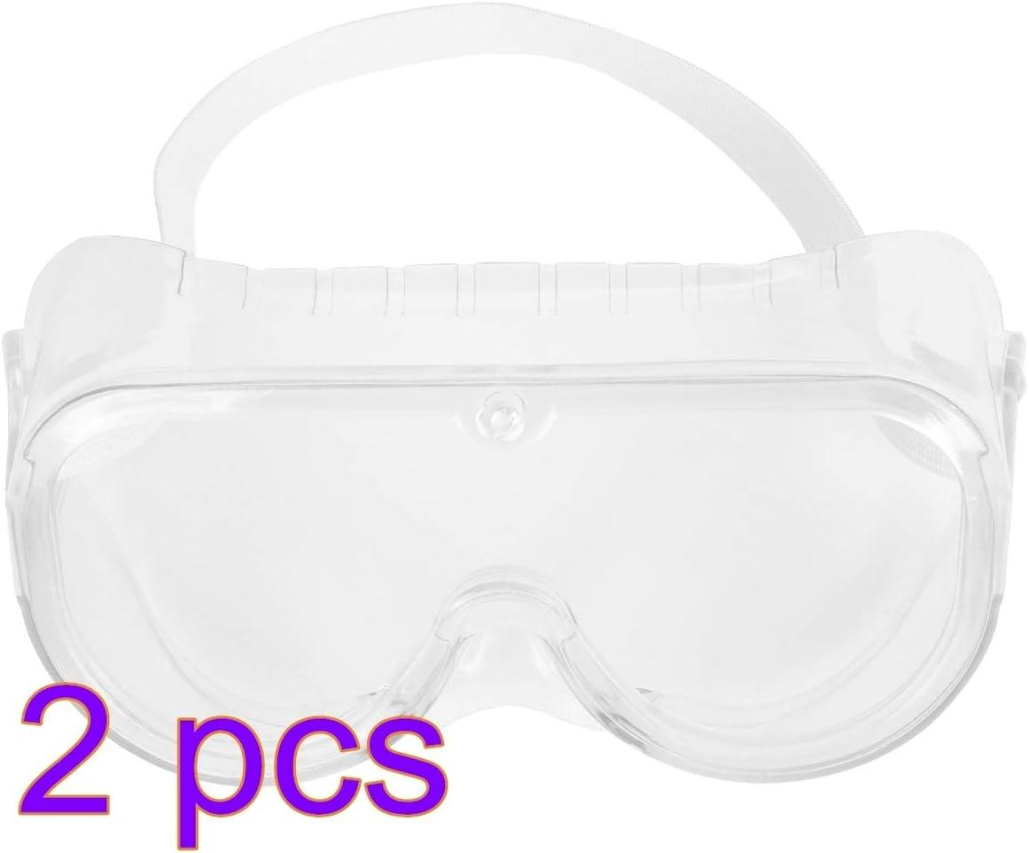Artibetter 2 Piezas Gafas de Seguridad Gafas Protectoras Protectoras Antichoque de Seguridad para Los Ojos Venda para Cirugía Hospitalaria