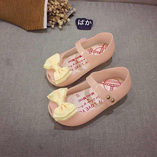 OverDose Baby Mädchen Lighted Sandalen, Nettes Kleinkind Baby Mädchen Beleuchtete Sandalen glänzende Sandalen Luminous Jelly Sandalen Lighted Schuhe Soft-Soled Princess Schuhe Babyschuhe Beige