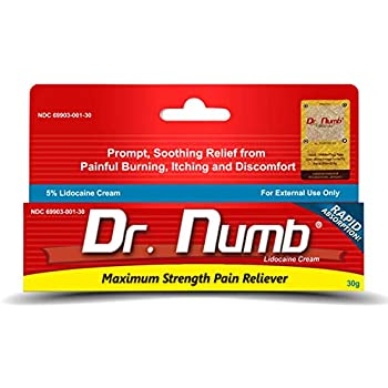 Amazon.com: 4 Tubes of Dr. Numb Maximum Topical Anesthetic ...