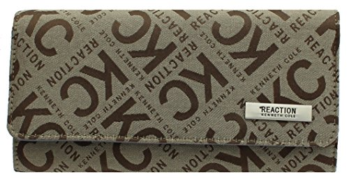 Kenneth Cole Reaction Women's Jacquard Design Tried & True Trifold Wallet Clutch (TAN)