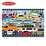 "Melissa & Doug Traffic Jam Floor Puzzle (Beautiful Original Artwork, Sturdy Cardboard Pieces, 24 Pieces, 24"" L x 36"" W)"