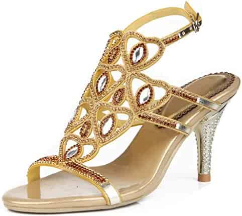 728659941247b9 LizForm Women Sweetheart Studded Sandal High Heels Evening Wedding Dress  Stiletto Sandals
