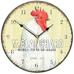 Blanchard gallina reloj de pared