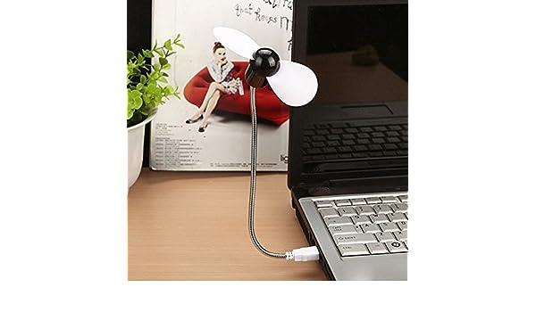 Flexible USB Mini Cooling Fan Cooler For Laptop Desktop PC Computer~