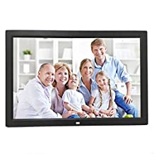 Celendi 15 Inch 1280x800 Hi-Res Digital Photo Frame Electronic Photo Album with Auto On/Off Timer, MP3 and Video Player (Black)