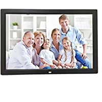 Celendi 15-Inch 1280x800 High Resolution Digital Photo Frame With Auto On/Off Timer, MP3 and Video Player, Black