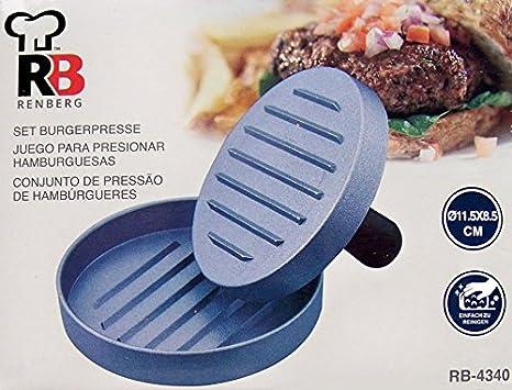 RENBERG-Set prensador hamburguesas. para Hacer Hamburguesas Caseras, Prensa para Hamburguesas, Hacedor