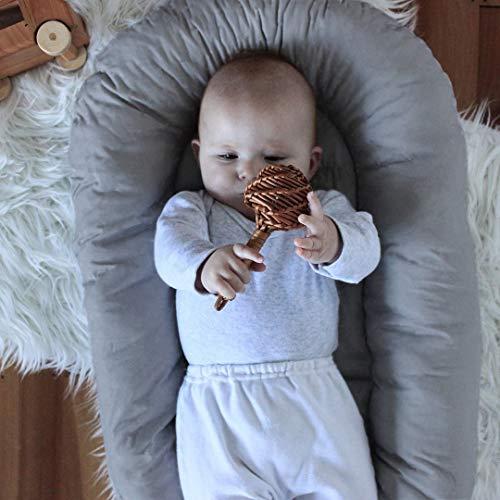 cf89c7b42b4b9 LOAOL Baby Lounger Newborn Co Sleeping Bassinet Reversible Infant Portable  Snuggle Nest Bed (Gray Leaves)