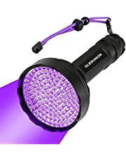 Black Light UV Flashlights,395 NM Ultraviolet Blacklight Detector for Home Hotel Dogs Cat Pet Urine Dry Stains Bed Bug Mold Counterfeit Money Leaks Scorpions Passport Cosmetic Inspection