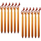 All one tech Pack of 12, 7075 Aluminum Outdoors Tent Stakes Pegs