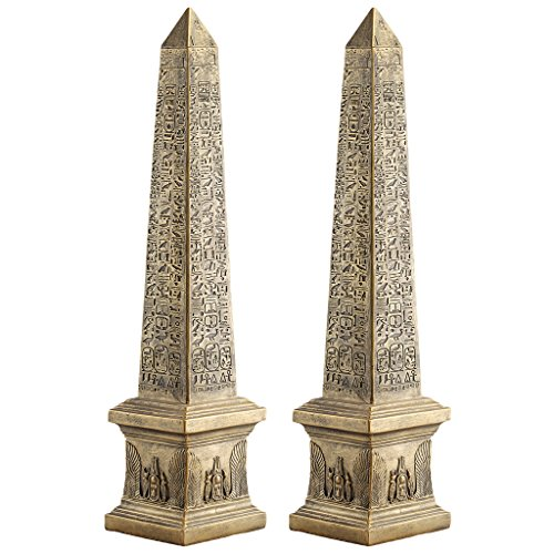 Obelisk Design (Design Toscano Golden Obelisk of Ancient Egypt Statue: Set of Two)