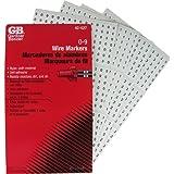 Gardner Bender 42-027 Pocket Wire Marker Booklet, 0-9