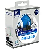 Philips WhiteVision 12258WHVSM Effet Xénon H1 pour Éclairage Avant, Set de 2