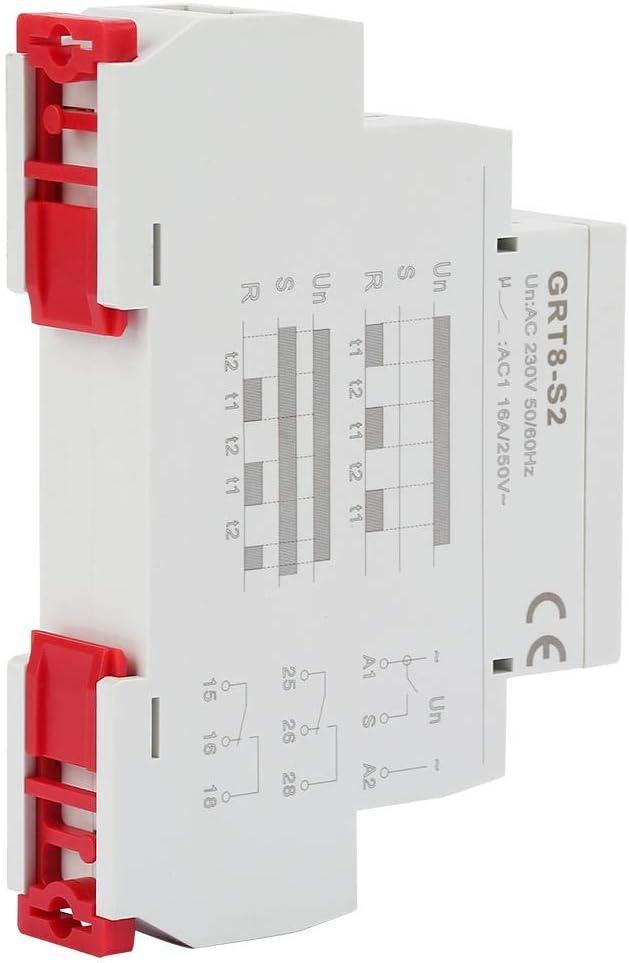 GRT8-A1 Relais temporis/é /à la mise sous tension Relais temporis/és type rail DIN Relais temporis/é au d/émarrage AC//DC 12V ~ 240V