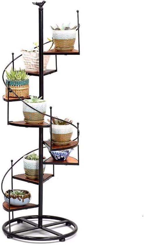 KSWD Metal Soporte de Planta Escalera de Caracol Soporte de exhibición Soporte de Flores de Interior Estante de decoración de jardín de 8 niveles-23x56cm A: Amazon.es: Hogar