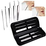 Blackhead Remover Tools Kits, Blackhead Remover Tool 5 Pcs Versatile Removal Kit Facial Extractor Treatment for Pimple Acne Premium Pimple Extractor Kit to Remove Blackheads/Whiteheads